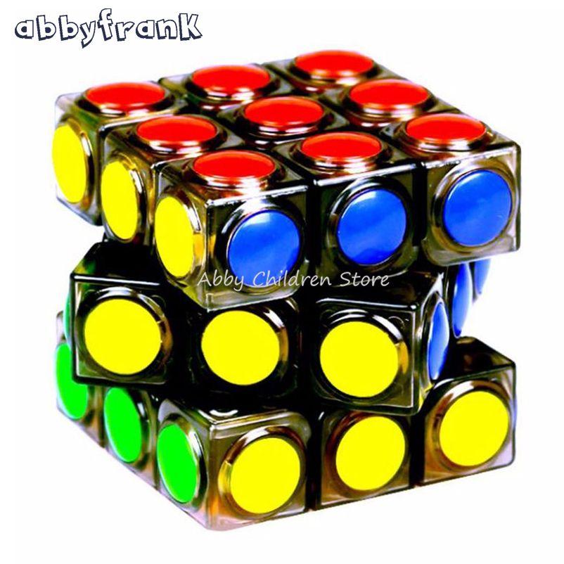 Abbyfrank Nouveau Transparent Cube Magique 3x3x3 Vitesse Puzzle Cube Jeu Point Forme Cubos Magicos Profession jeu de Puzzle Jouets Cadeau