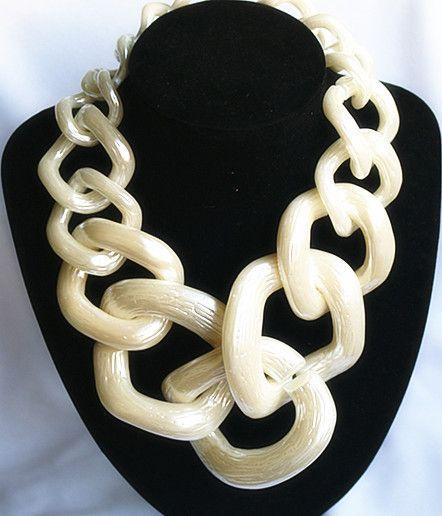 Déclaration fishmouton grande chaîne Chunky collier ras du cou collier pour femmes grand acrylique colliers et pendentifs femme bijoux de mode