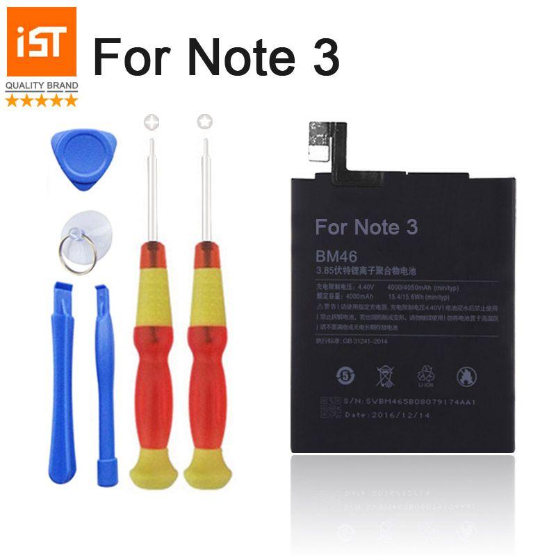 2017 100% IST Note 3 Téléphone portable Original Batterie Pour Xiaomi Mi RedMi Note 3 Haute Qualité Batterie De Remplacement Avec Des Outils De Réparation