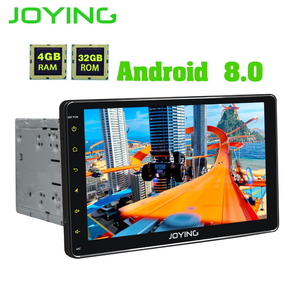 JOYING 9'' 2 din Car Radio 4gb Ram Android 8.0 HD PX5 Octa Core Universal head unit GPS system support Carplay Wifi Fast Boot
