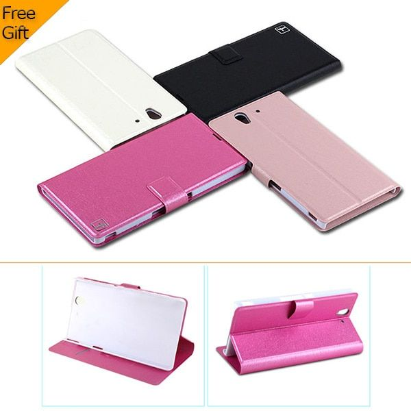 Fashion Ultra-thin Flip Leather Wallet Cover Case For Sony Xperia Z L36H C6602 C6603 Mobile Phone Case With Card Holder&Stand