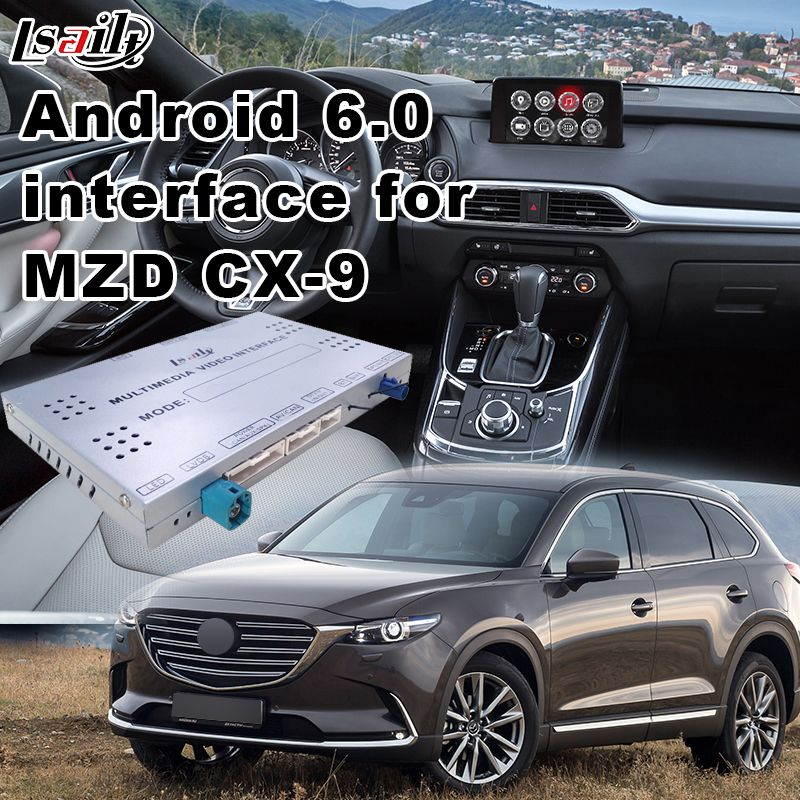 Android 6.0 Multimedia Interface For Mazda CX-9 with GPS Navigation Mirrorlink Cast Screen, Video Integration