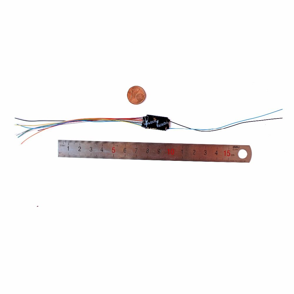 DCC LOCO DECODER FOR HO & N SCALE MODEL TRAIN with 4 Function with 9 Wire and Stay Alives Wires/LaisDcc Brand