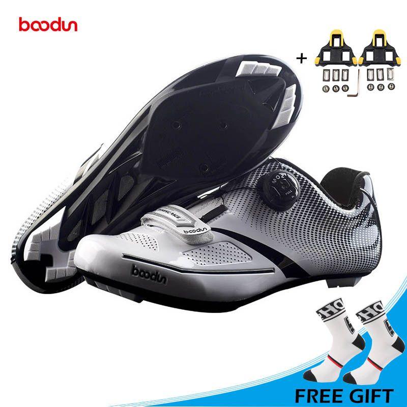 BOODUN New Ultralight Road Cycling Shoes Self-locking Non-slip Bike Shoes Men Athletic Road Riding Shoes Sapatos de ciclismo