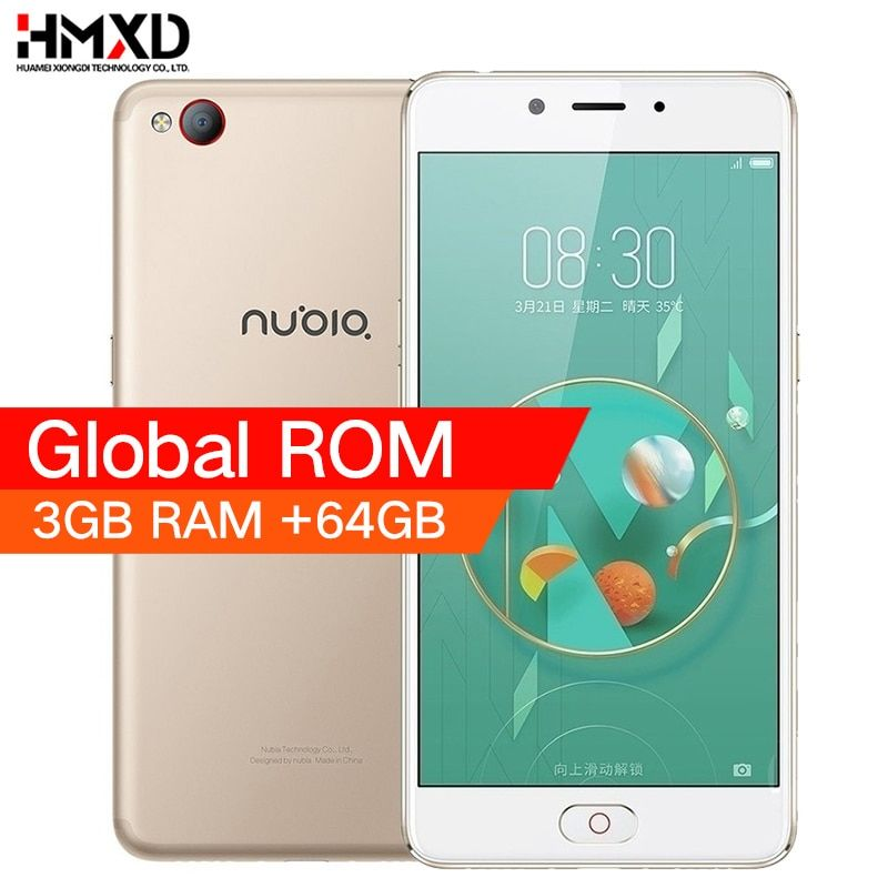 Original 2017 ZTE Nubia M2 <font><b>LITE</b></font> 4G LTE MT6750 Octa Core Android M 5.5 3G RAM 64GB ROM 16.0MP 3000mAh Battery Smartphone