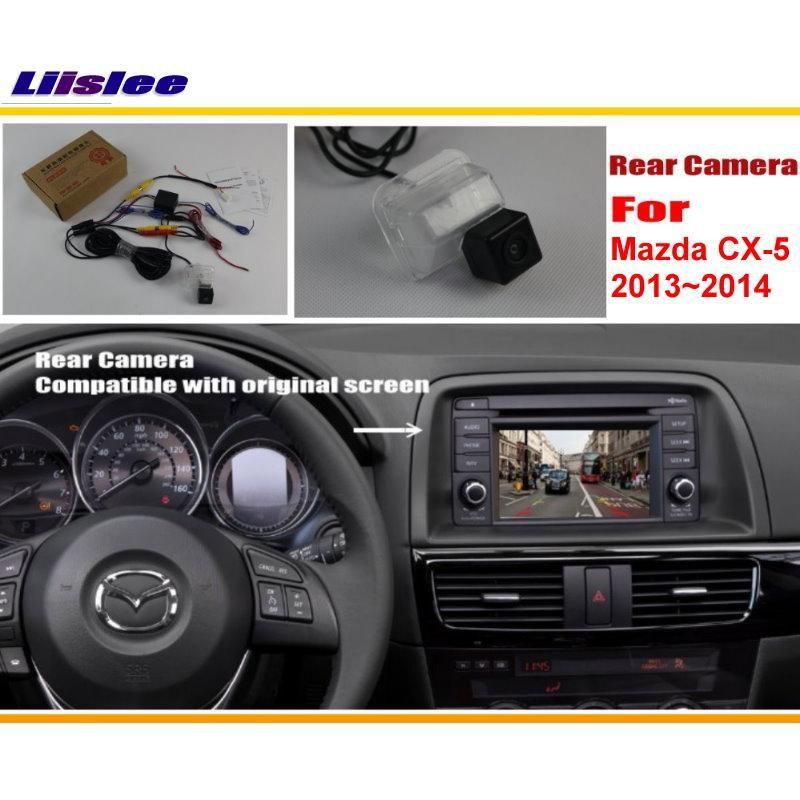 Liislee Car Rear View Camera / Back Up Reverse Camera Sets For Mazda CX-5 CX 5 CX5 2013 2014 / Original Screen Compatible