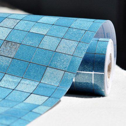 5 m/10 m Vinyle Auto-adhésif film PVC Mosaïque Papier Peint Salle De Bain Cuisine de tuile imperméable autocollant Résistant À L'huile stickers muraux décor à la maison