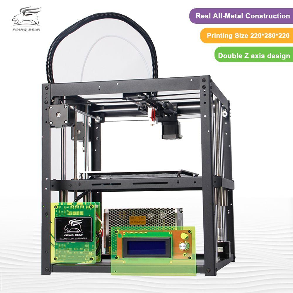 3d-drucker kit FlyingBear P905 Alle Metall Dual Extruder Auto Leveling Makerbot Struktur DIY 3D Drucker