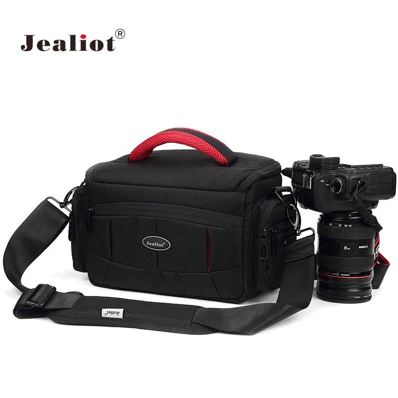Jealiot reflex étanche dslr sac pour Caméra sac d'épaule numérique caméra Vidéo foto instax Photo lentille sac cas pour Canon 6d Nikon
