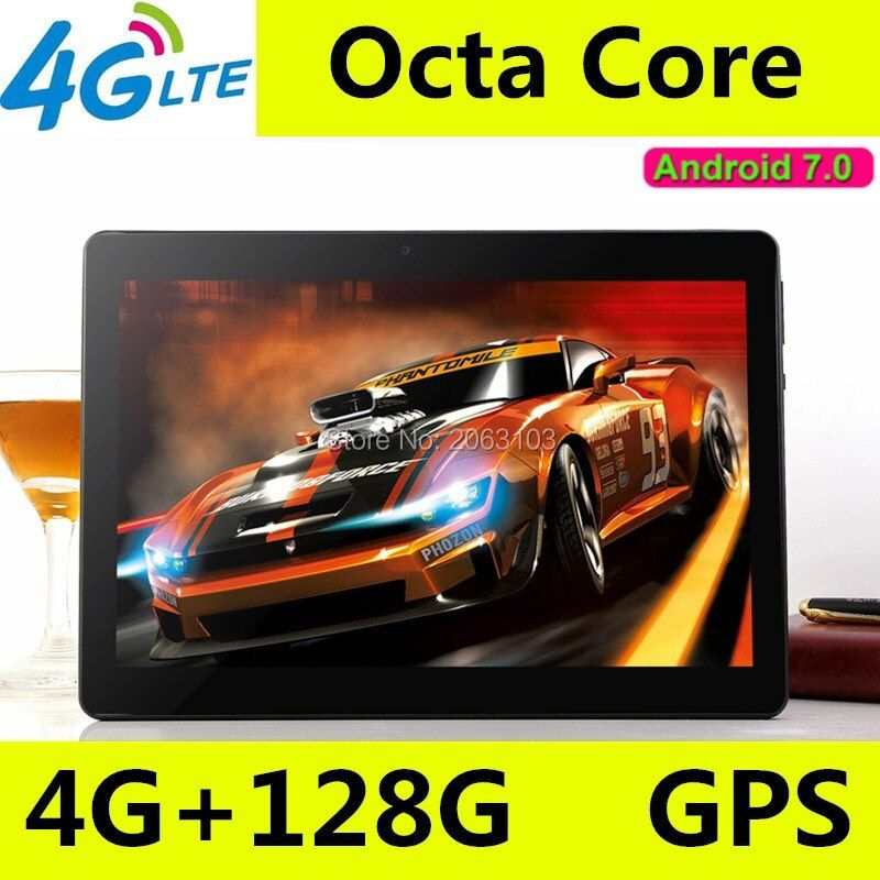 10 zoll tablet pc Octa-core 3G 4G LTE Tabletten Android 7.0 RAM 4 GB ROM 128 GB Dual SIM Bluetooth GPS Tabletten 10,1 zoll tablet pcs