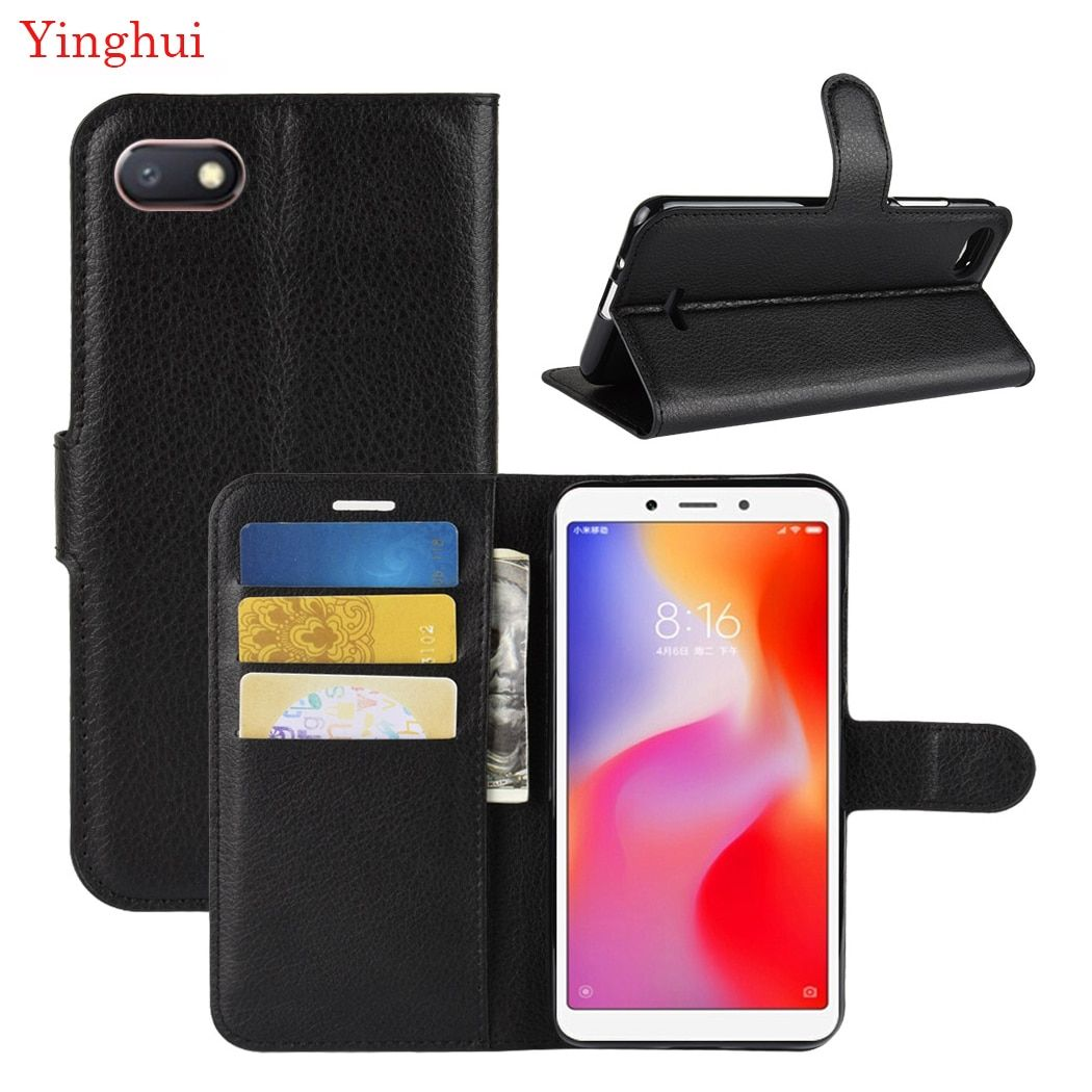 For Xiomi Redmi 6A Case Flip Leather Phone Case For Xiomi Redmi 6A Wallet Leather Stand Cover Filp Cases For Xiomi Redmi 6A