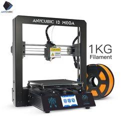 ANYCUBIC 3D Drucker I3 Mega Volle Metall Frame Industrial Grade Hohe Präzision Plus Größe Günstige Düse 3D Drucker PLA Filament