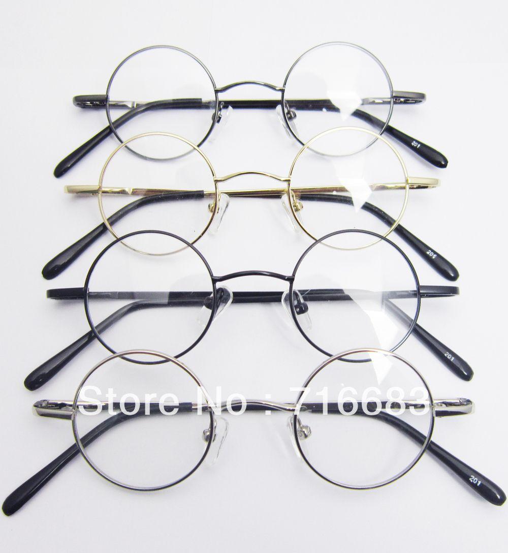 37mm Small Round Retro Vintage Children Kid Kids' Eyeglass Frame Harry Potter Round Eyeglass Frames Black Gold Silver Gun Grey