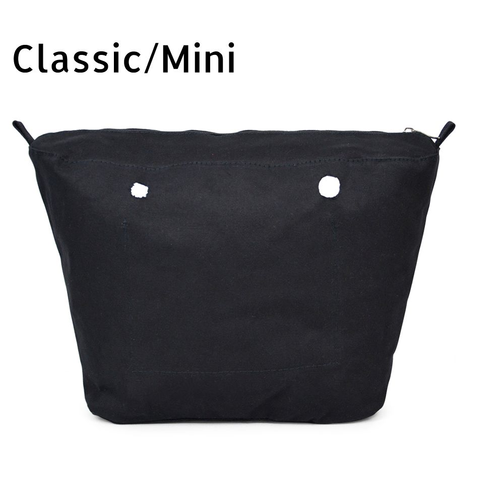 Новая внутренняя подкладка вставки карман на молнии для Classic Mini obag холст вставки с внутренней водонепроницаемое покрытие для o Мешок