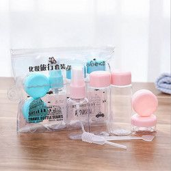 7pcs/Set Travel Mini  Makeup Cosmetic Face Cream Pot Bottles Plastic Transparent Empty Eyeshadow Make Up Container Bottle