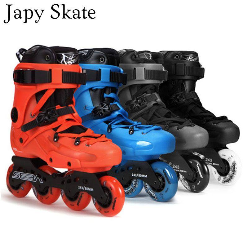 Japy Skate 100% Original SEBA FR1 Inline Skates Street Free Style Roller Skating Shoes FSK Skates Slalom Sliding Patines Adulto