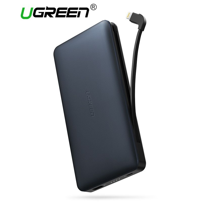 Ugreen 20000mah Power Bank with Charging Cable Portable External Battery Powerbank for Android and IOS Mobile Phones Power Bank
