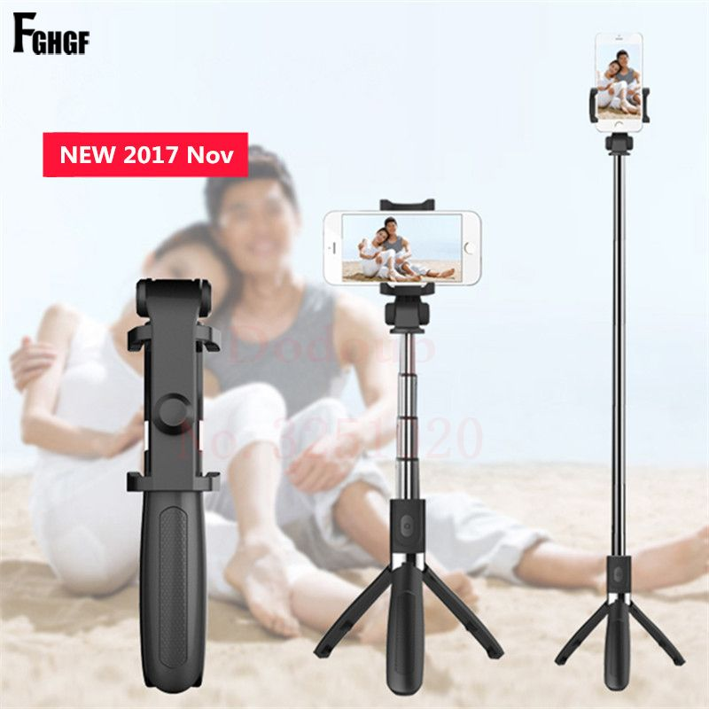 Wireless Bluetooth Selfie Stick Universal 3 in 1 Mobile Phone Tripod Bracket For iPhone Mini Extendable Shutter Selfie Stick