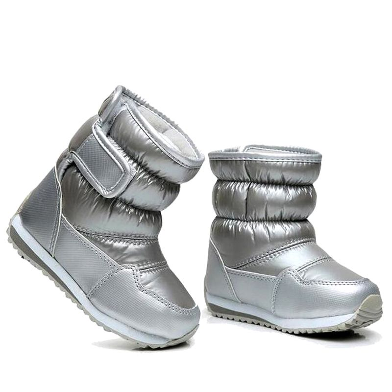 Children's Rubber Boots For Girls Boys mid-calf bungee lacing <font><b>snow</b></font> boots waterproof girls boot sport shoes fur lining kids boot
