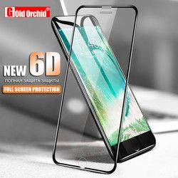 5D En Alliage D'aluminium En Verre Trempé Pour iPhone 6 6 S 7 Plus Complet Protecteur d'écran De Protection Film Pour iPhone X 8 5 SE 5S Verre