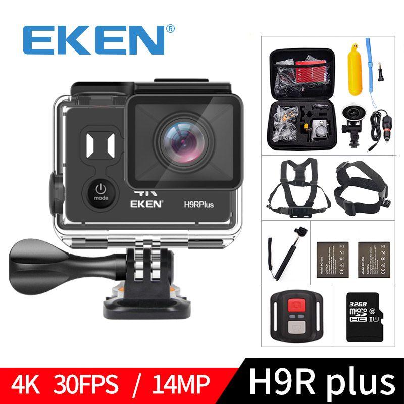 EKEN H9R plus A12 Ultra 4K 30FPS Wifi Action Camera 30M waterproof 1080p go Image Stabilization Ambarella 14MP pro sport cam