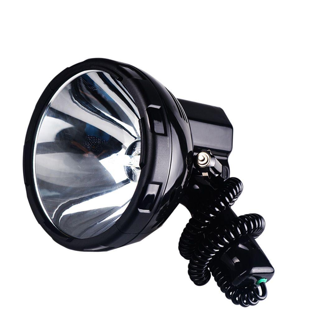 Projecteur HID portable brillant 220 W recherche de lumière xénon chasse 12 V projecteur 35 w, 55 w, 65 w, 75 w, 100 w, 160 w