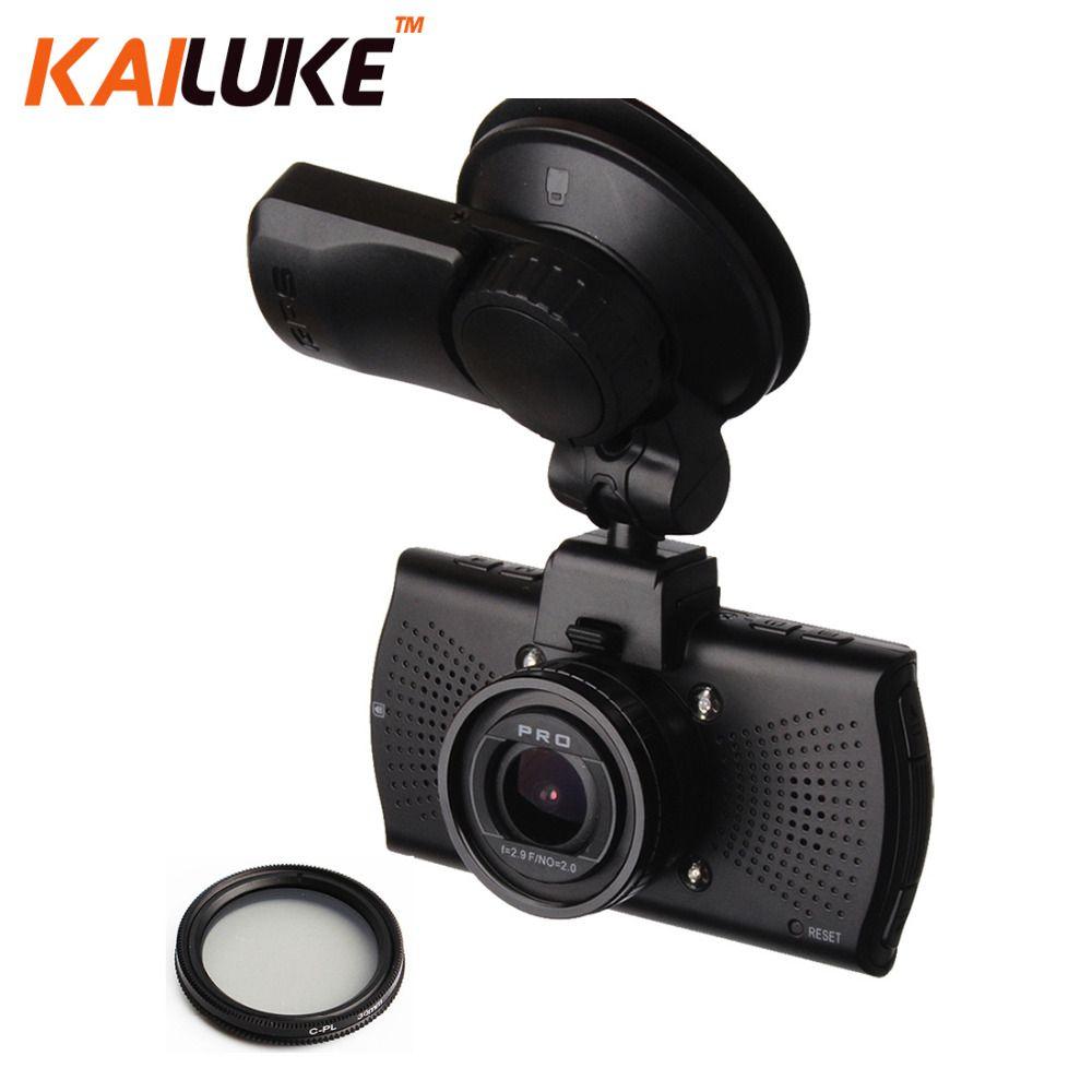 Ambarella A7LA70 Car Camera DVR Full HD 1296P WDR Night Vision Dash Cam Auto Video Recorder DVRS Black Box GPS CPL A7810G Pro