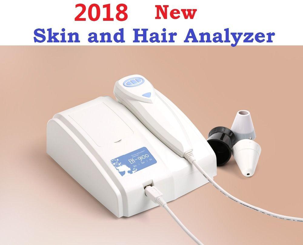 2018 New 8.0 MP High Resolution Digital CCD USB Multifunction UV Skin and Hair Analyzer Skin Camera Diagnosis Skinscope DHLfree
