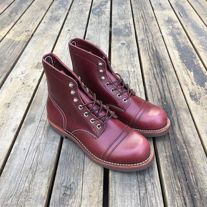 Echtes Leder Top Qualität Neue Männer Casual Schuhe Luxus Designer Britischen Herbst Winter Stiefeletten Wein Rot Motorrad Stiefel