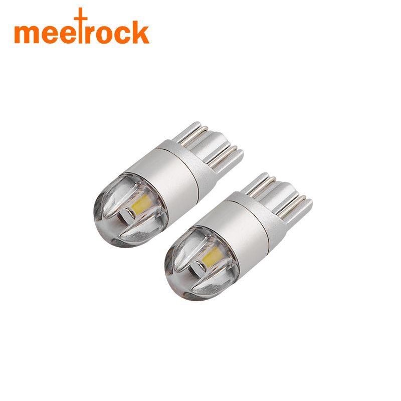Meetrock 2 stücke T10 LED auto licht SMD 3030 marker lampe w5w 194 501 birne parkplatz lichtkuppel auto auto styling 12 v 24 v