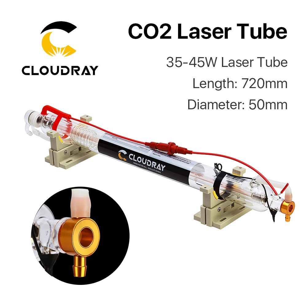 Cloudray 40W Co2 Laser Upgraded Metal Head Tube 700MM Glass Pipe <font><b>Lamp</b></font> for CO2 Laser Engraving Cutting Machine