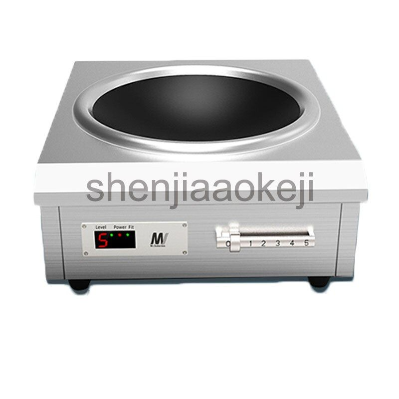 Commercial induction cooker 6000w high-power concave canteen cookers stir fry stove 220v 1pc