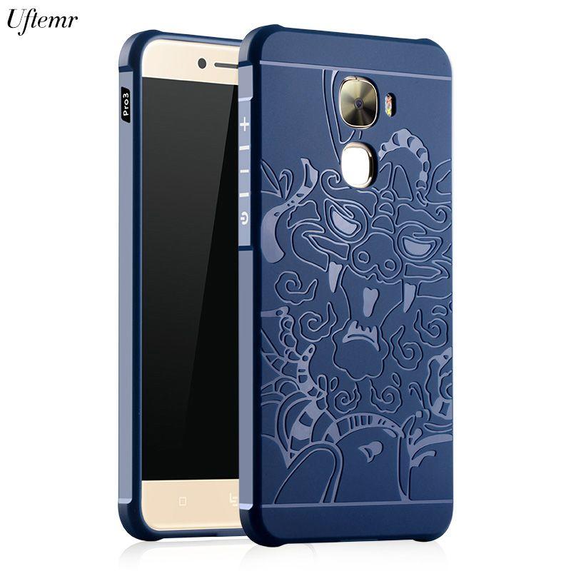 Uftemr Case for LeTV LeEco Le Pro 3 Luxury 3D carved Dragon Soft Silicone Back Cover LeEco Le Pro3 X720 Cases letv le 3 pro case