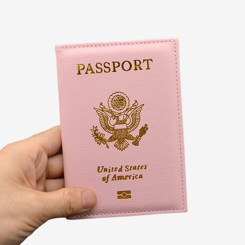 Travel Cute USA Passport Cover Women Pink USA Passport Holder American Covers for Passports Girls Case Passport Wallet