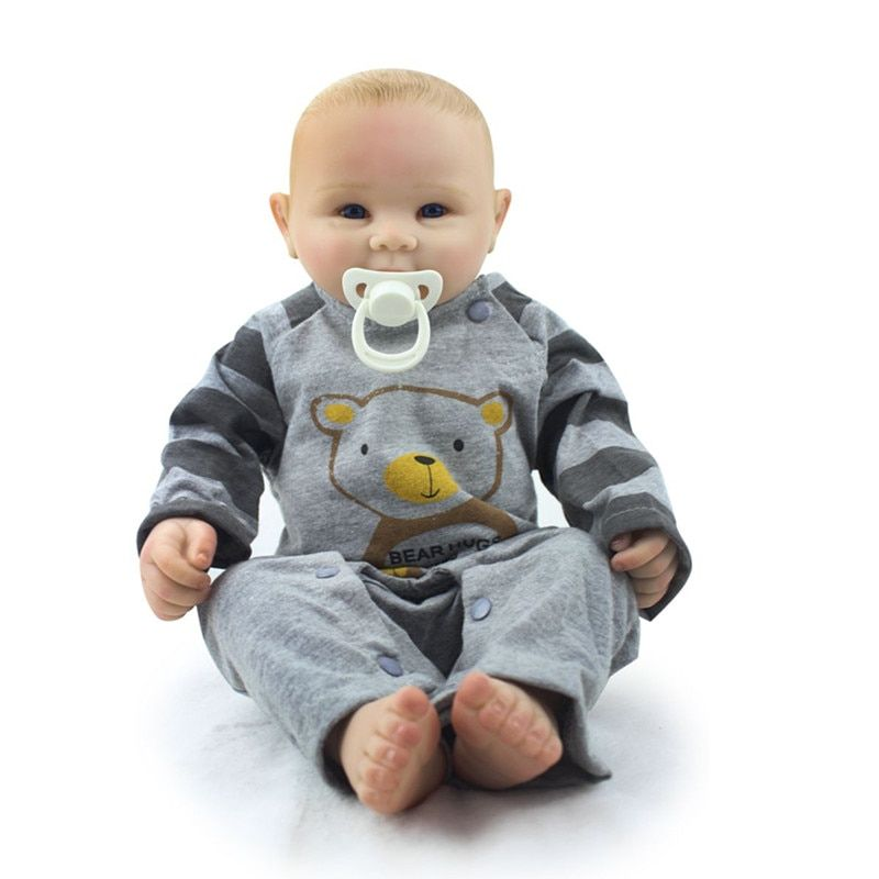 Reborn Baby Doll Boy Victoria Full Silicone Vinyl Truly Real Collection Finished Doll Juguetes Brinquedos free shipping hotsale