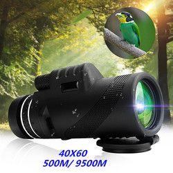 Baru 40X60 Hari & Malam Visi Dual-Fokus HD Optik Zoom Bermata Teleskop Tahan Air Super Jelas untuk Outdoor Berburu