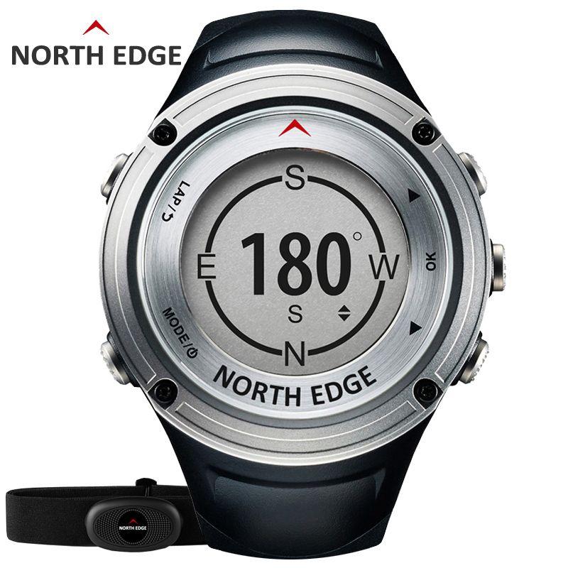 NORTH RAND männer GPS sportuhr Digitale uhren wasserdicht militärischen Herzfrequenz Höhenmesser Barometer Kompass stunden lauf