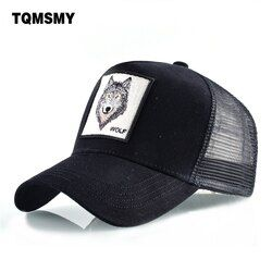 8 Jenis Bordir Hewan Topi Bisbol Pria Bernapas Mesh Snapback Unisex Topi Matahari Topi untuk Wanita Tulang Casquette Hip hop