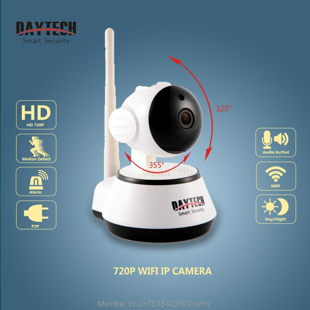Daytech Wifi IP Camera Night Vision Motion <font><b>Detect</b></font> P2P Wifi Monitor Network CCTV Home security Camera Mobile Remote Cam DT-C8815