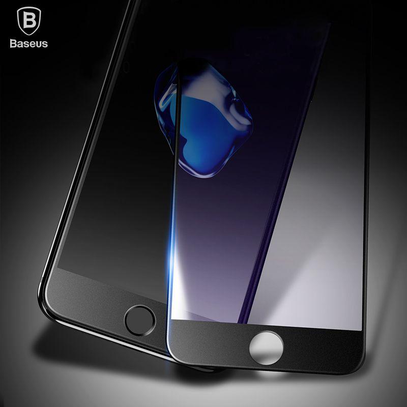 Baseus Protecteur D'écran Pour iPhone 8 8 Plus 7 7 Plus 6 6 s Plus En Verre Trempé 0.23mm 3D Pleine Couverture En Verre Film Pour iPhone 7 6