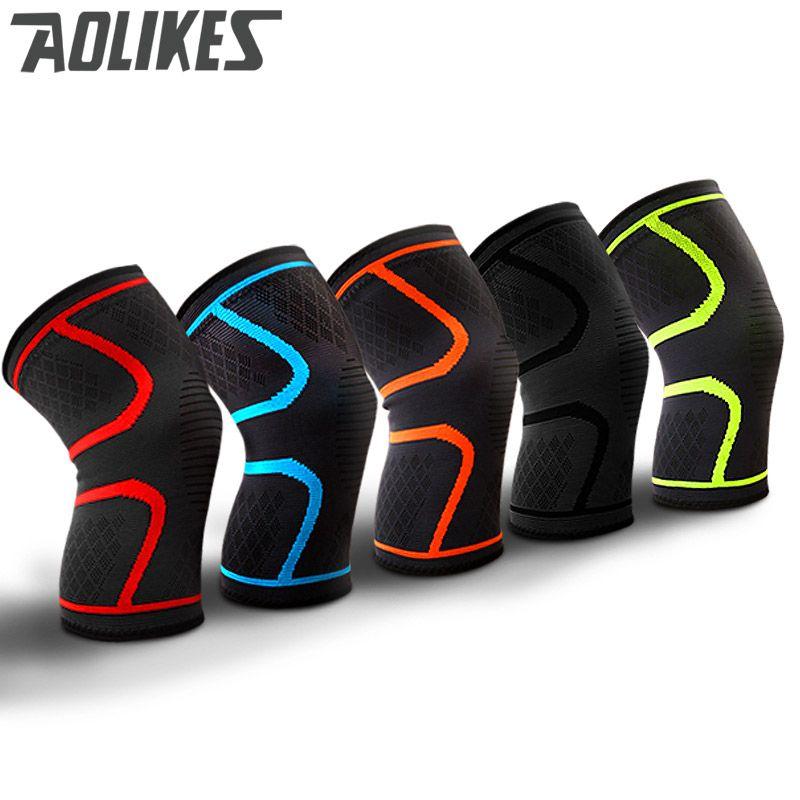 2 STÜCKE Fitness Running Radfahren Knie Unterstützung Hosenträger Elastischen Nylon Sport Compression Knie Pad Hülse für Basketball Volleyball