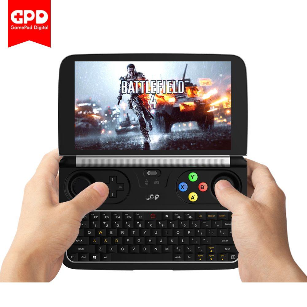 Neue GPD WIN 2 WIN2 6 zoll Handheld Gaming Laptop Intel Core m3-7Y30 Windows 10 System 8 gb RAM 128 gb ROM Tasche Mini PC Laptop