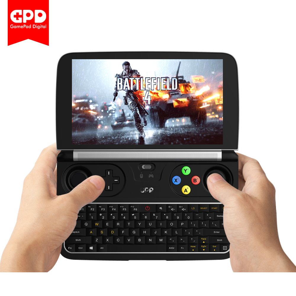 New GPD WIN 2 WIN2 6 Inch Handheld Gaming Laptop Intel Core m3-7Y30 Windows 10 <font><b>System</b></font> 8GB RAM 128GB ROM Pocket Mini PC Laptop