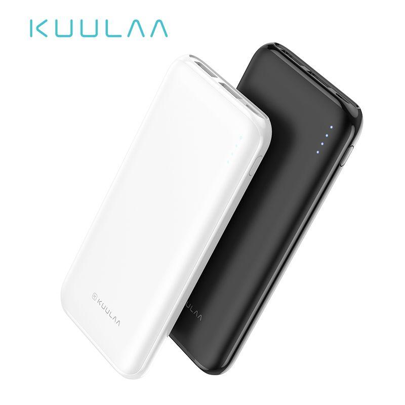 KUULAA batterie externe 10000 mAh chargeur de charge Portable 10000 mAh banque de pauvreté USB chargeur de batterie externe pour Xiao mi mi 9 8 iPhone
