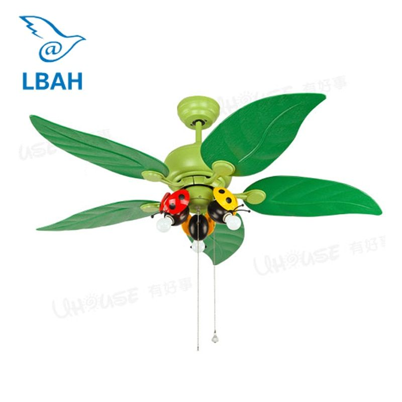 LBAH LED ceiling light study fan lights Kindergarten is decorated fan droplight Children room bedroom lamps and lanterns