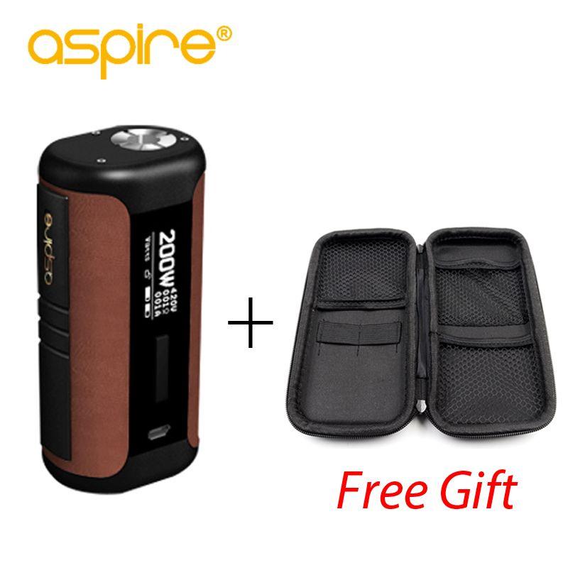 Original Aspire Speeder Mod 200W Vape Electronic Cigarette Vape Regulated Mod Fits Revvo Tank Powered by <font><b>18650</b></font> Battery Box Mod