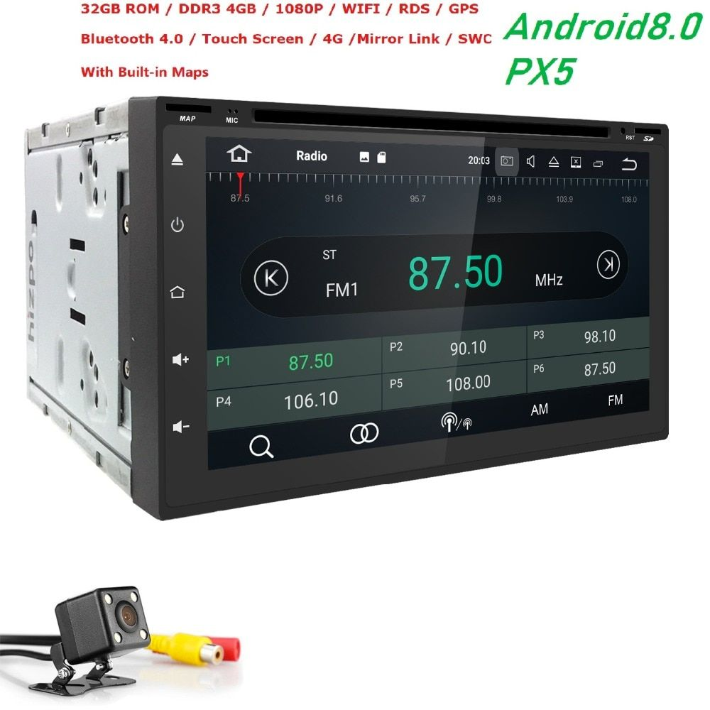 HD1024*600 screen OctaCore 4G RAM+32G ROM 2DIN universal car radio gps Android8.0 with wifi car stereo audio DVD PLAYER CAR NAVI