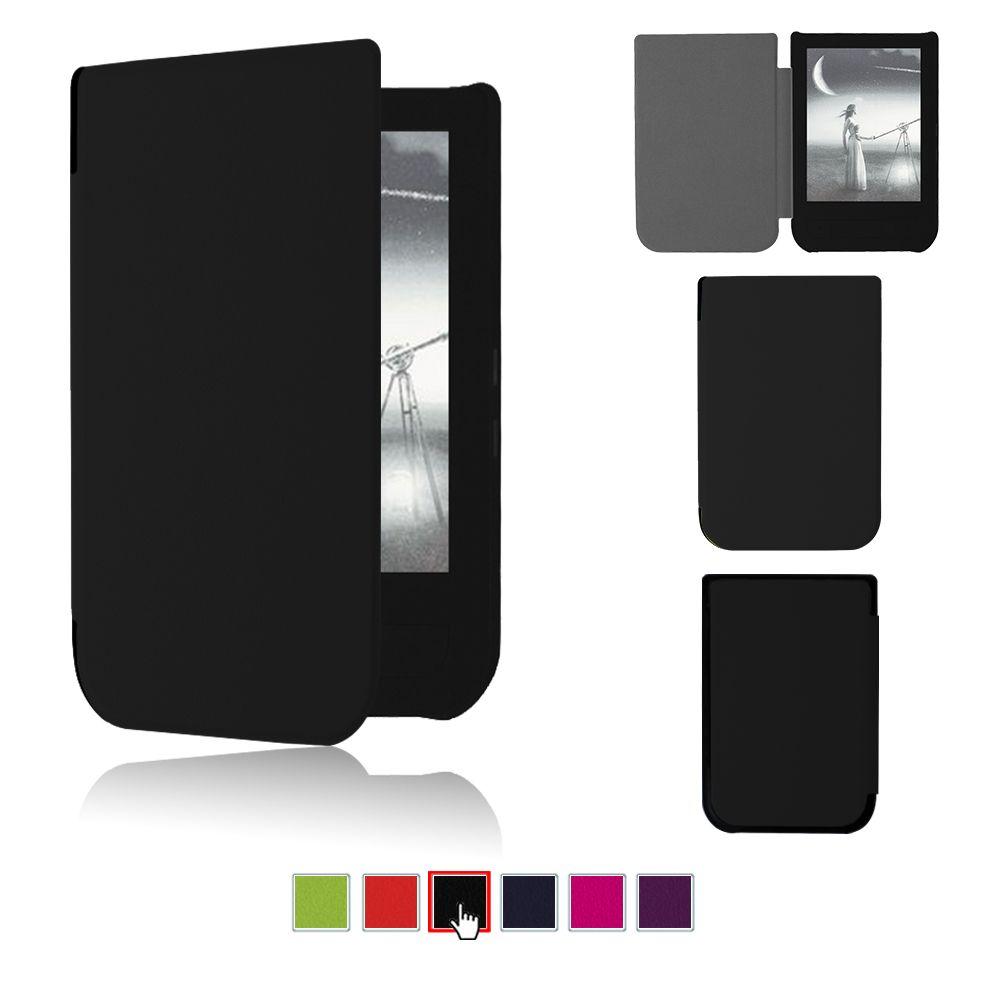 Housse de protection en cuir PU pour 2016 pocketbook touch HD 6 pouces étui Ereader + film protecteur d'écran + stylet