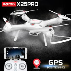SYMA X25PRO Drone dengan Kamera 720 P HD Quadrocopter Drone GPS FPV Transmisi Helikopter RC Drone Quadcopter Drone