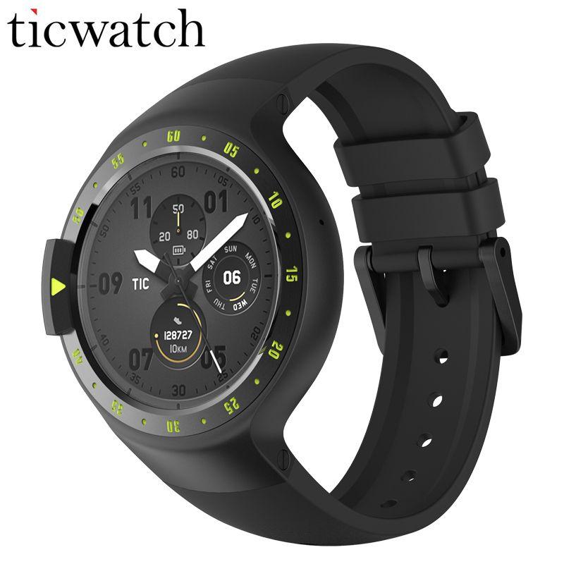 Original Ticwatch S Ritter Smart Uhr Android Tragen 2,0 Bluetooth 4,1 WIFI Herz Rate IP67 Wasserdichte Eingebaute GPS-Sport Uhr